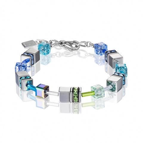 Браслет Coeur de Lion 4015/30-0705 цвет голубой, зелёный, серый