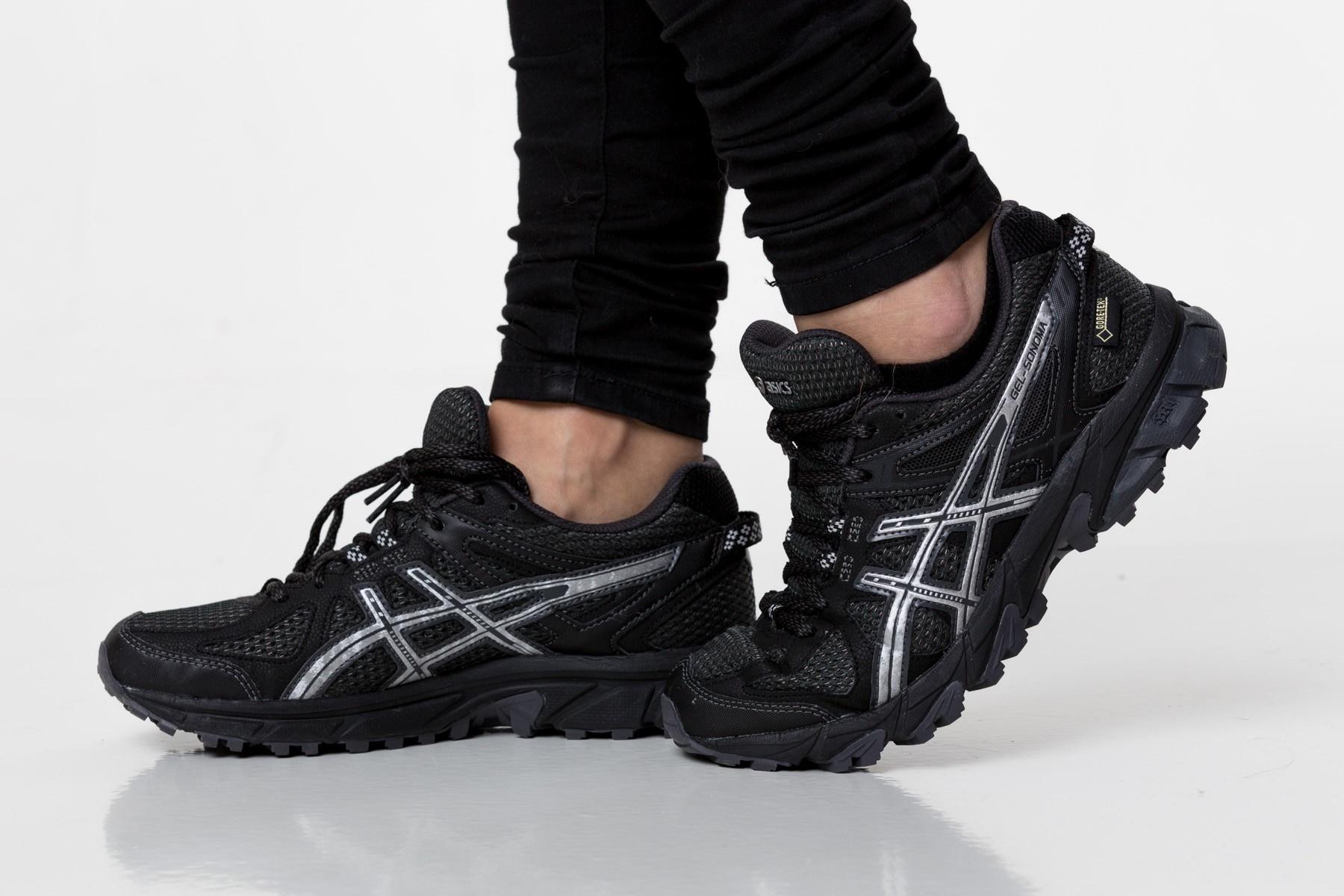 Женские кроссовки внедорожники Asics Gel-Sonoma G-TX (T5N7N 9093) черные