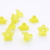 Бусина акриловая Цветочек желтый 10х4 мм ,10 штук