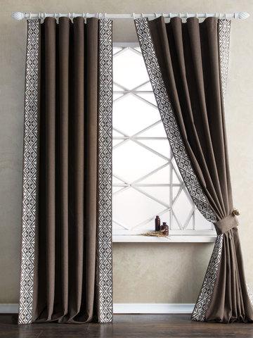 Комплект штор Капри коричневый