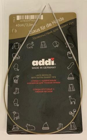 Спицы круговые с удлиненным кончиком, №2, 40 см ADDI Германия арт.775-7/2-40