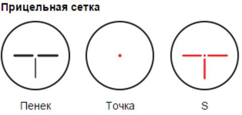 ПРИЦЕЛ КОЛЛИМАТОРНЫЙ ПИЛАД ВОМЗ P1X42 (ВЕНТИЛИРУЕМАЯ ПЛАНКА)