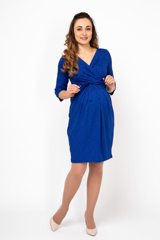 Платье 07986 синий