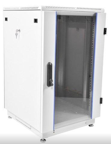 Шкаф телекоммуникационный напольный 18U (600 × 600) дверь стекло ЦМО ШТК-М-18.6.6-1ААА