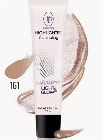 ТФ Хайлайтер для лица  Illuminating Highlighter тон 161 золотой -25мл CTW16