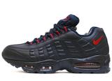 Кроссовки Мужские Nike Air Max 95 Leather Dk Blue Red ( C Мехом)