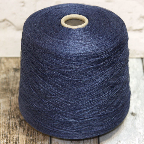 Лен 100% TOSCANO  / QUARANTOLINO 2/40 синий меланж