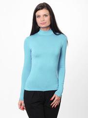 7171-6 водолазка женская, голубая