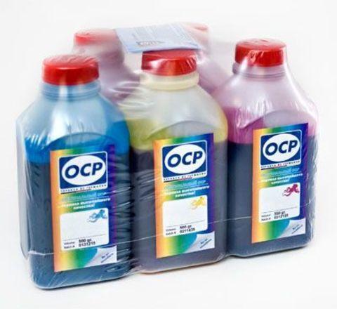 Комплект чернил ОСР для Epson Expression Home XP-600, 605, XP-700, 800. (OCP BKP 115, BK 140, C 142, M 140, Y 140) 5 х 500мл