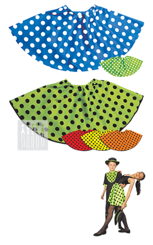 Фото Юбка в горох рисунок Шляпа канотье купить в Москве и СПб, есть доставка во все регионы России!