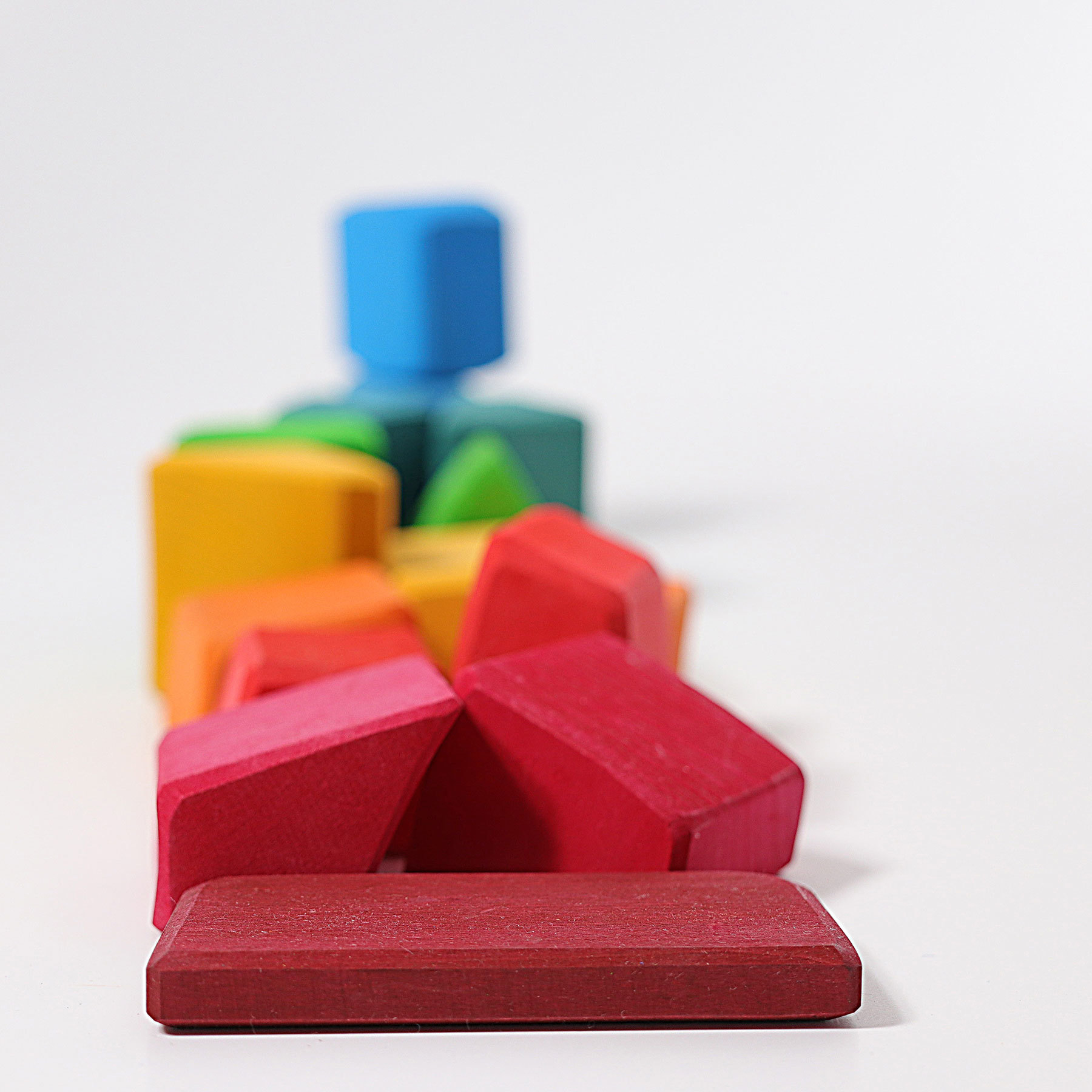 """Набор """"вальдорфских"""" разноцветных блоков (Grimms)"""
