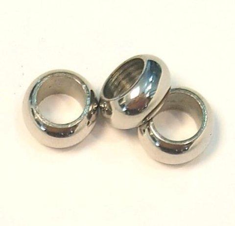 Фурнитура ювелирная - бусина 10 мм нерж.сталь