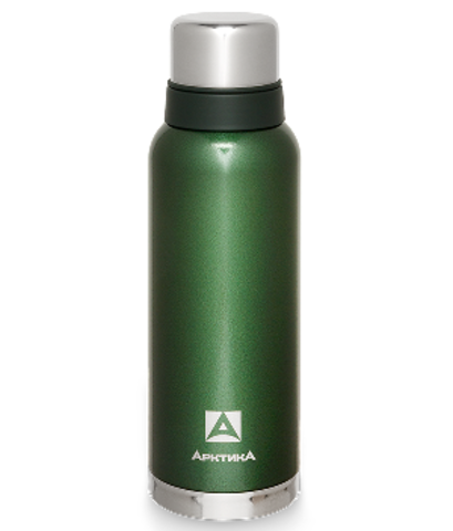 Термос Арктика (1,2 литра) с узким горлом американский дизайн, зелёный