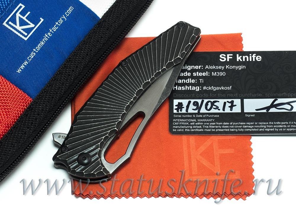 Нож CKF/GAVKO Spinner Flipper (M390, титан)
