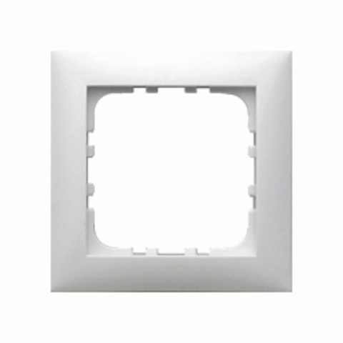 Рамка на 1 пост. Цвет Белый. LK Studio LK60 (ЛК Студио ЛК60). 864104