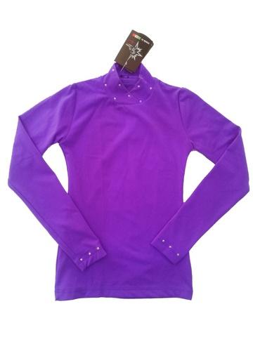 Водолазка со стразами (фиолетовый)