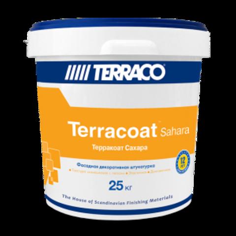 Terraco Terracoat Sahara/Террако Терракоат Сахара декоративное покрытие на акриловой основе с зернистой текстурой типа «шуба» с эффектом песка