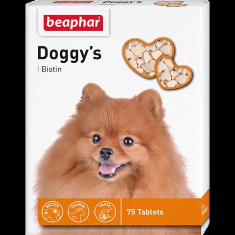 Beaphar Doggy`s Biotine витаминизированное лакомство для собак для нормализации обмена веществ 75таб