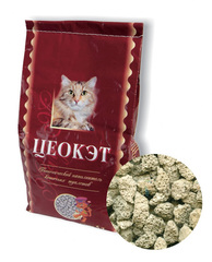 Наполнитель для кошек, Цеокэт, впитывающий