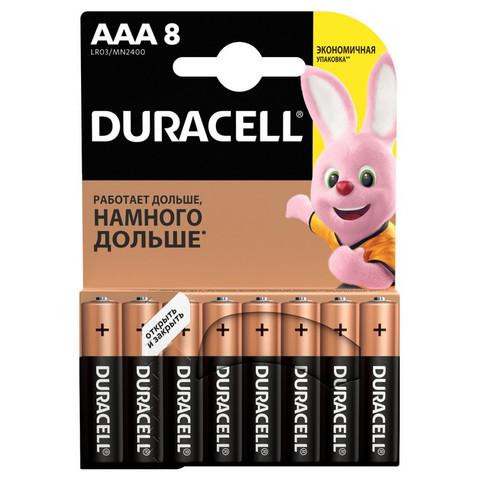 Батарейки DURACELL ААA/LR03-8BL BASIC бл/8