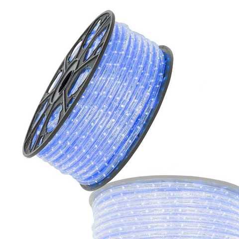 Дюралайт гофрированный синий 100 метров led