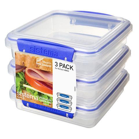 Набор контейнеров для сэндвичей Klip IT (3 шт) 450 мл