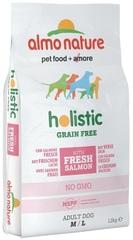 Беззерновой корм для собак средних и крупных пород, Almo Nature Holistic Grain Free Dogs M-L, с лососем и картофелем