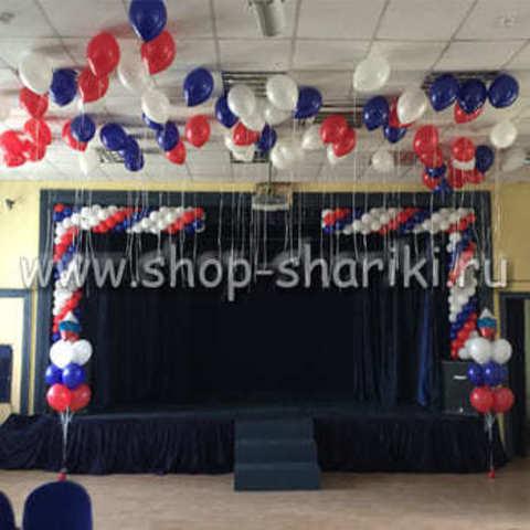 украшение шарами на 1 сентября в школе