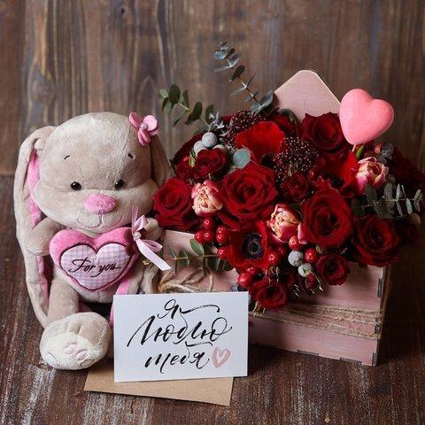 """НАБОР: """"Любовное послание в конверте"""" с сердцем и открыткой"""