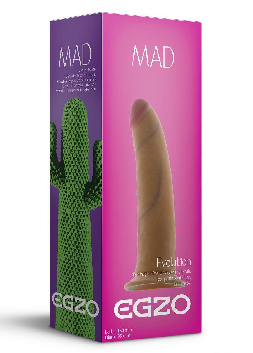 Классические дилдо: Телесный фаллоимитатор без мошонки Mad Cactus - 18 см.
