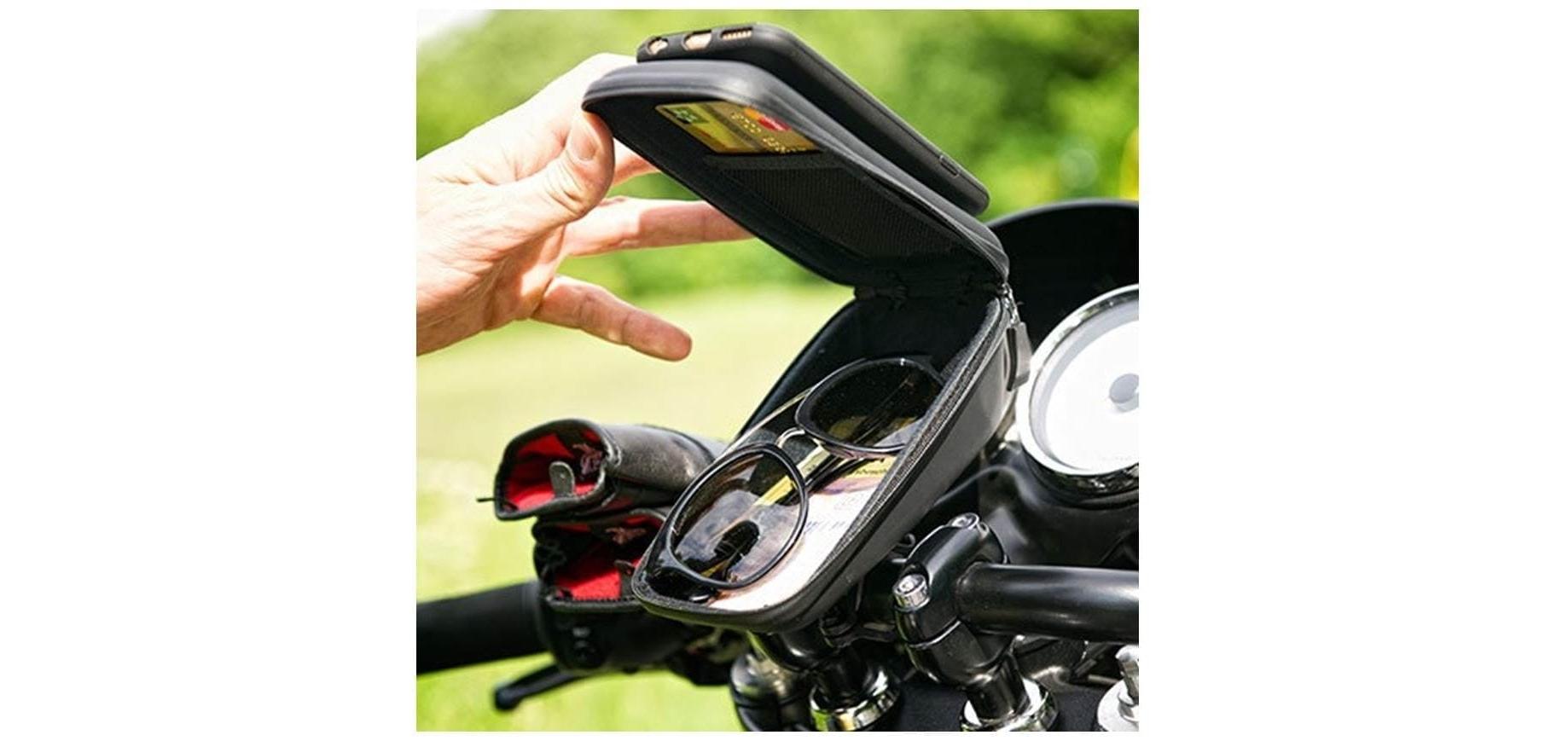 Кейс для велосипеда с держателем для смартфона SP Wedge Case Set открытый