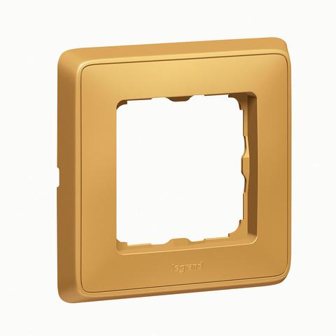 Рамка на 1 пост. Цвет Матовое золото. Legrand Cariva (Легранд Карива). 773661