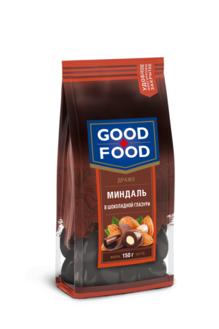 GOOD FOOD Миндаль в шоколадной глазури 150г