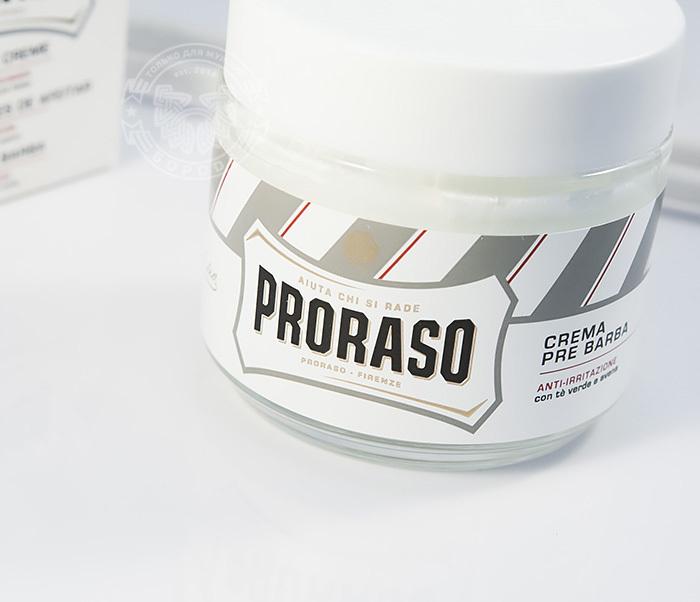 "RAZ400103 Крем до бритья ""Proraso"" pre shave, зелёный чай и овёс (100 мл) фото 02"
