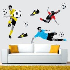 Спорт 3D наклейка футболисты