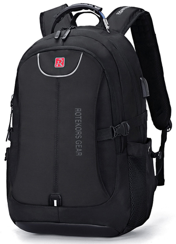 Рюкзак ROTEKORS 1567-17 USB Черный