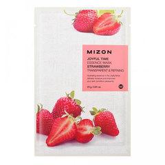 Mizon Joyful Time Essence Mask Strawberry - Тканевая маска для лица с экстрактом свежей клубники