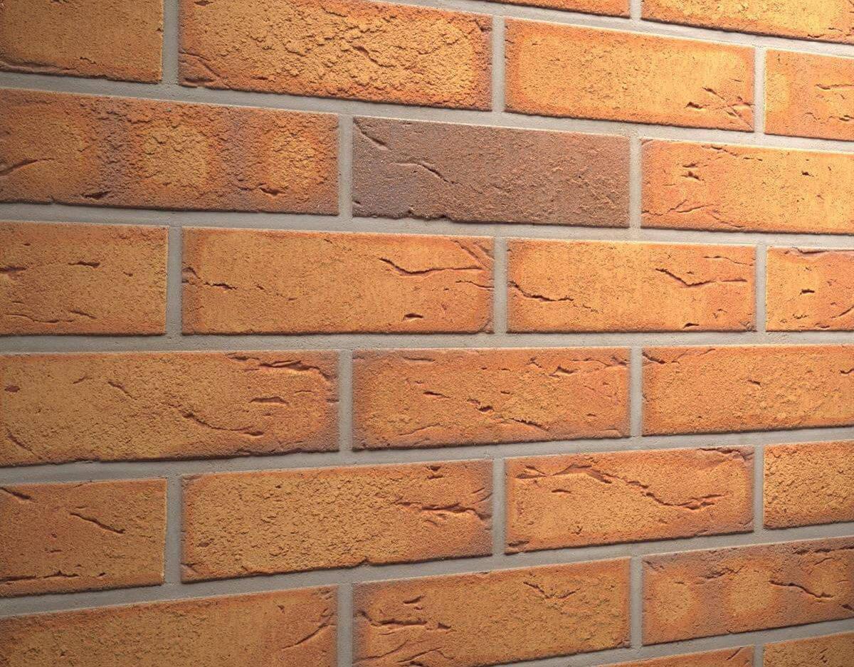Клинкерная плитка под кирпич Feldhaus Klinker, Classic, Nolani, R268NF9, пестрая обожженная,