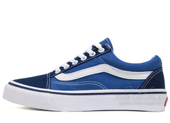 Кеды Vans Low Old Skool Blue Jeans White