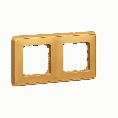 Рамка на 2 поста. Цвет Матовое золото. Legrand Cariva (Легранд Карива). 773662