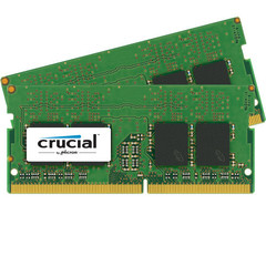 Комплект модулей памяти Crucial 32Gb (2x 16GB) 2400MHZ DDR4 для Apple iMac 2017 SO-DIMM PC4-19200 1.2V