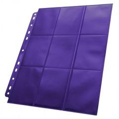 Ultimate Guard - Фиолетовый двухсторонний лист для альбома на кольцах 3х3