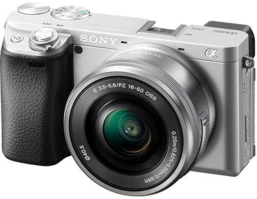 Фотокамера A6400 с объективом SEL-P1650, цвет серебристый