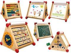 I'm Toy Развивающий центр 7 в 1 (алфавит, часы, доски для рисования, логические сортеры, счёты) (22045)