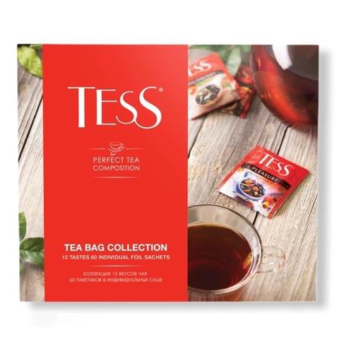 ТЕСС Подарочный набор чая и чайных напитков 12 видов, пакетированный , 60 пакетиков по 5 каждого вида