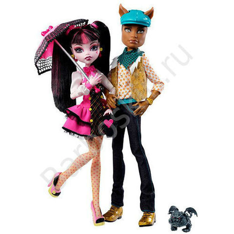 Игровой набор кукол Monster High Дракулаура (Draculaura) и Клод Вульф (Clawd Wolf) - Выпускники (School's Out), Mattel