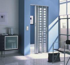 Двери гармошка со стеклом New Generation