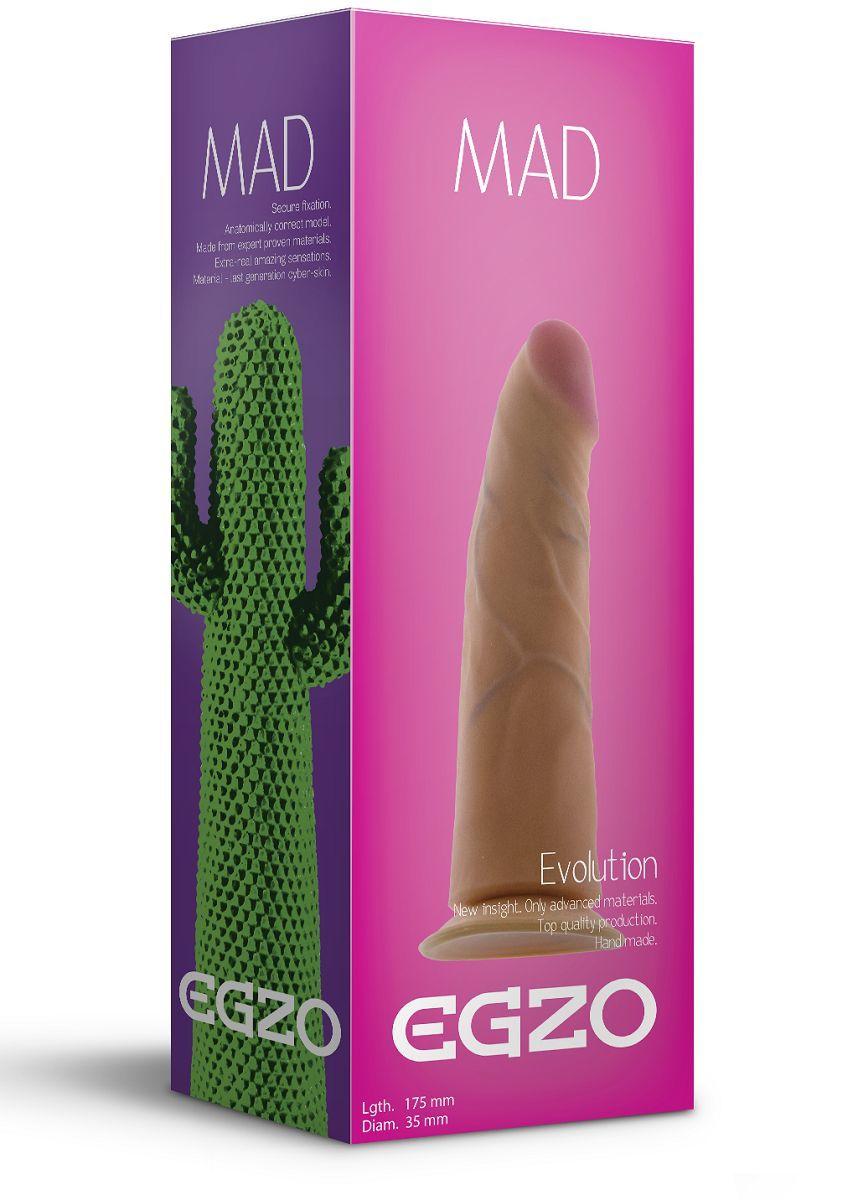 Реалистичные: Телесный фаллоимитатор без мошонки Mad Cactus - 17,5 см.