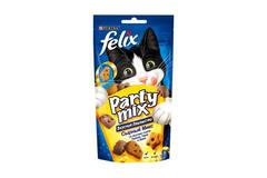 Purina Felix Party Mix лакомство для кошек Сырный микс 60гр.