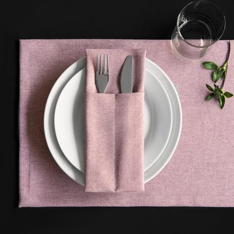 Набор кувертов Джейн розовый